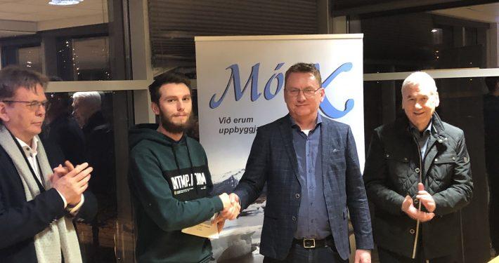 Jón Þorvaldsson, Dagur Ragnarsson og feðgarnir Viggó Hilmarsson og Hilmar Viggósson frá MótX